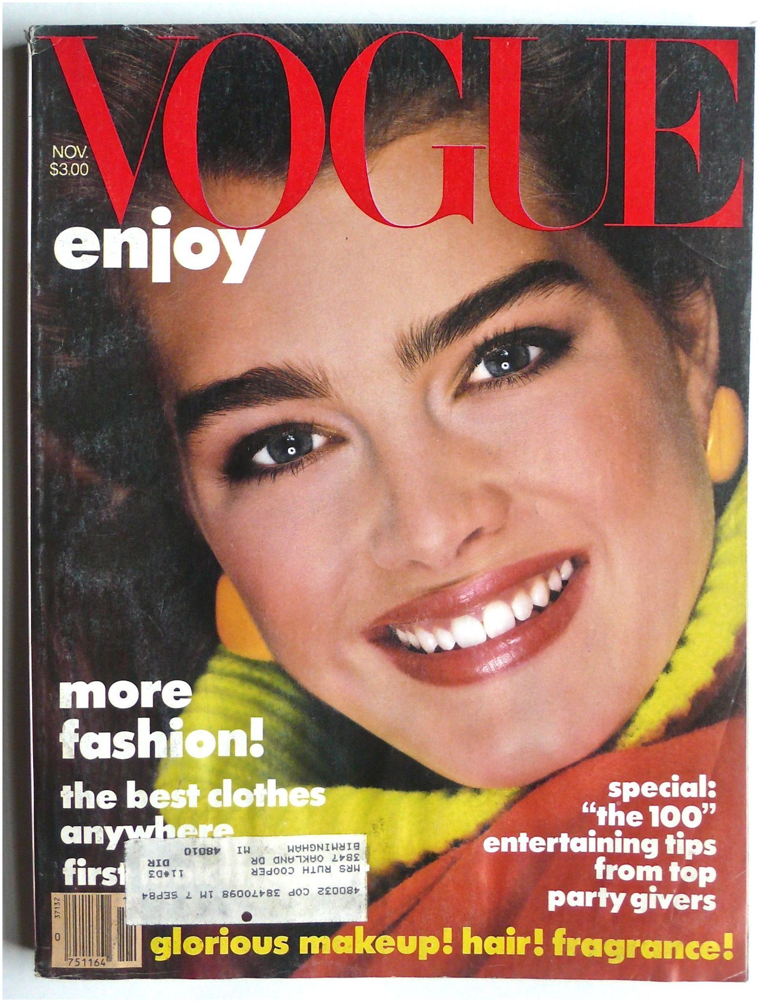 5 Dollar Magazines Vogue Magazine November 1983 In 2019 Products