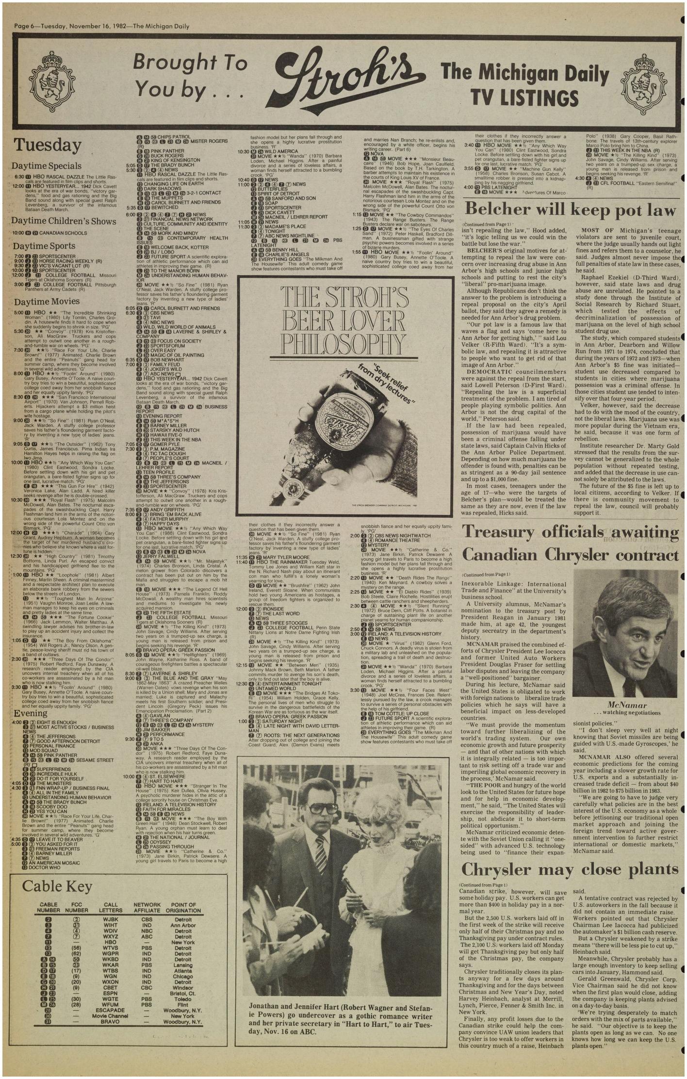 Atlanta Business Journal Magazine Michigan Daily Digital Archives November 16 1982 Vol 93 iss