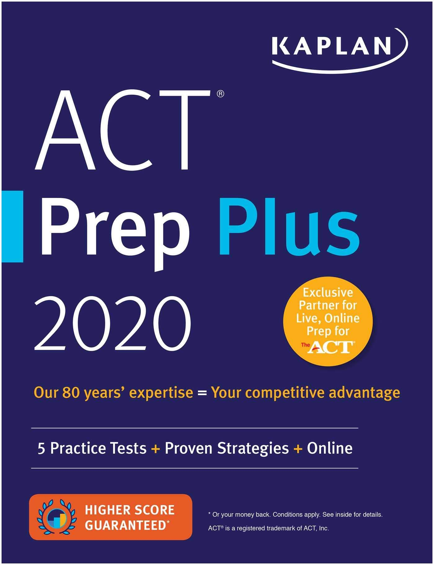 Best Act Prep Book 2019 Amazon Act Prep Plus 2020 5 Practice Tests Proven Strategies