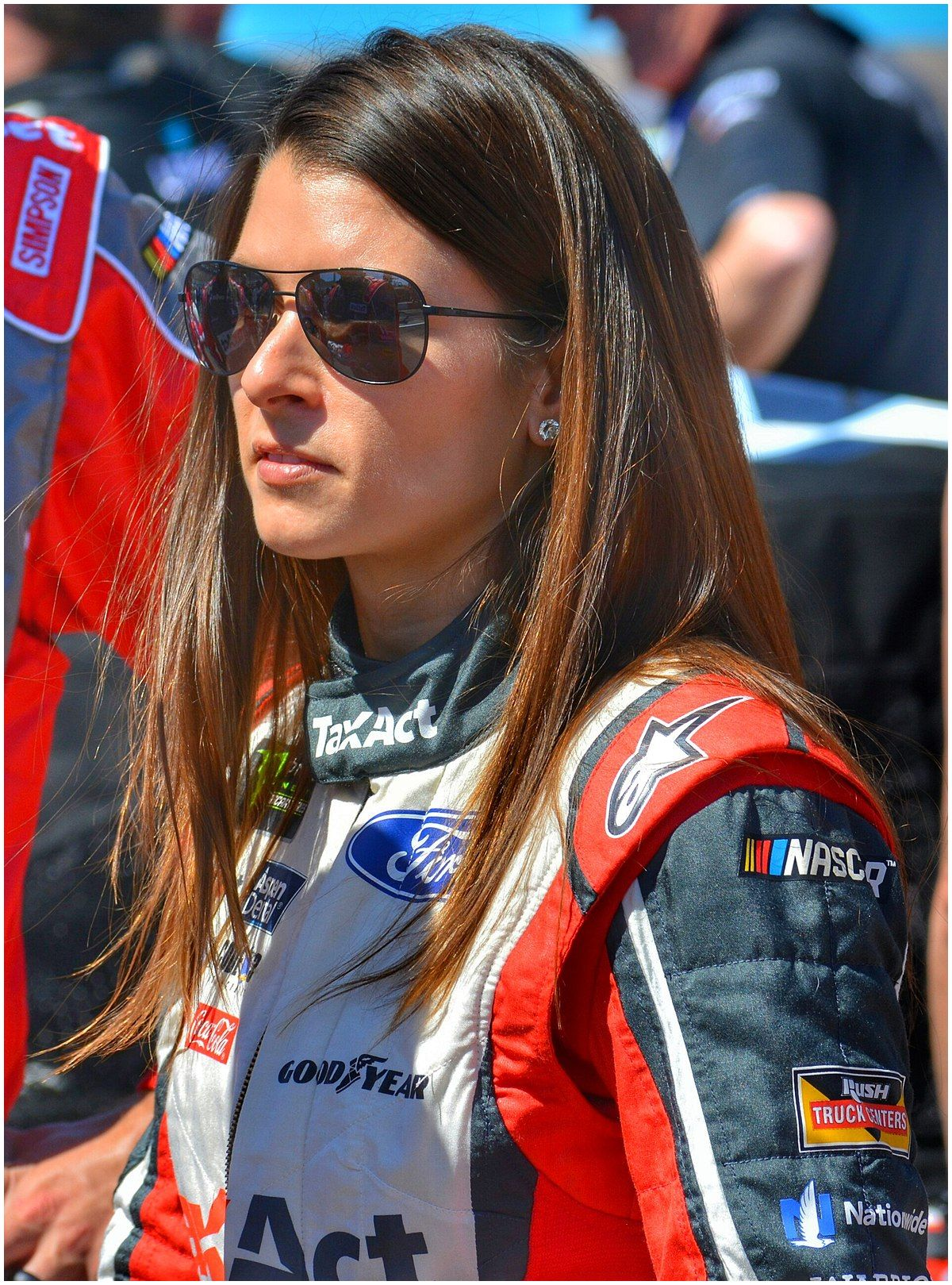 1200px Danica Patrick 2017 Camping World 500 Driver s Parade on Pit Road