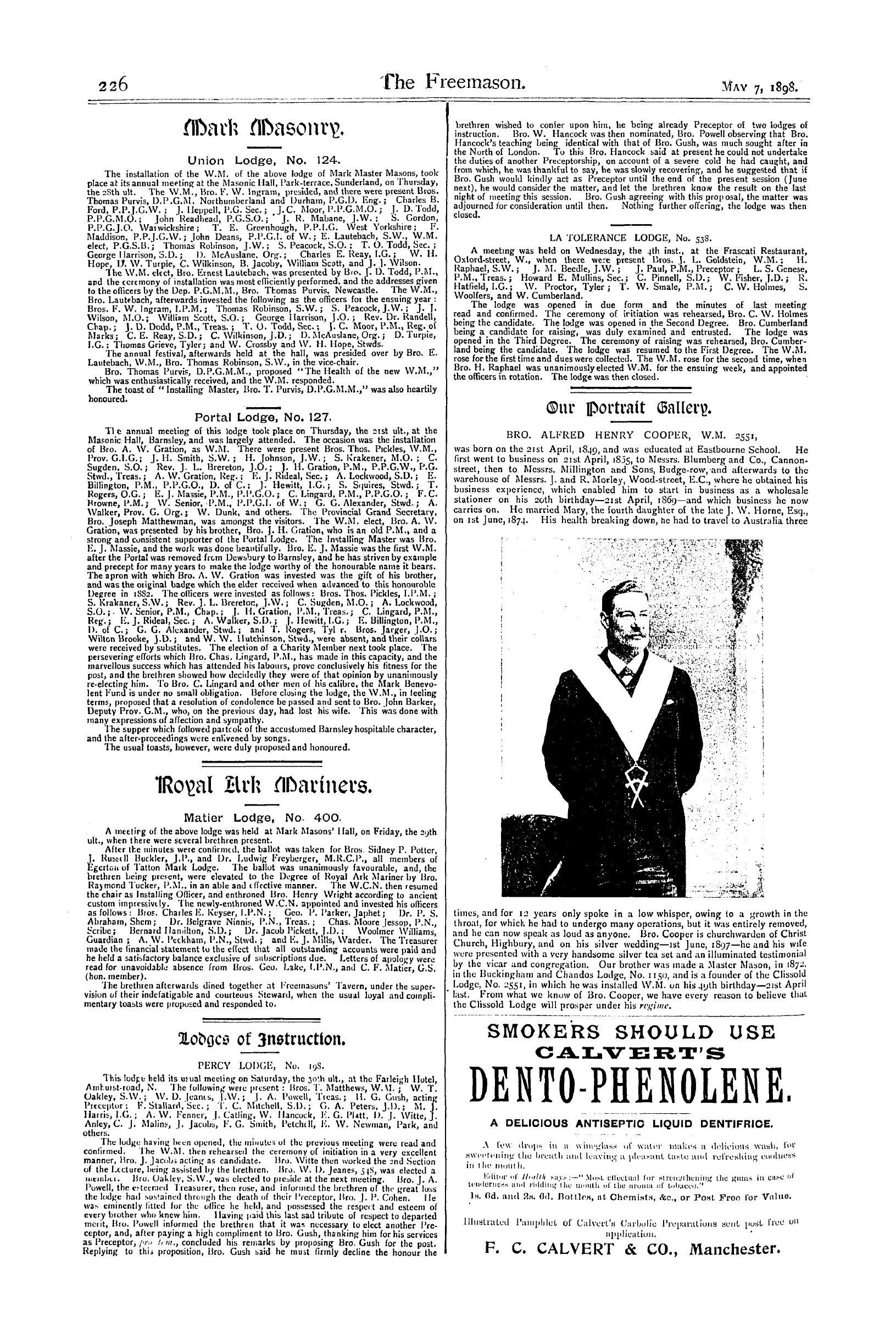 Financial Periodicals the Freemason May 7 1898 Page 10