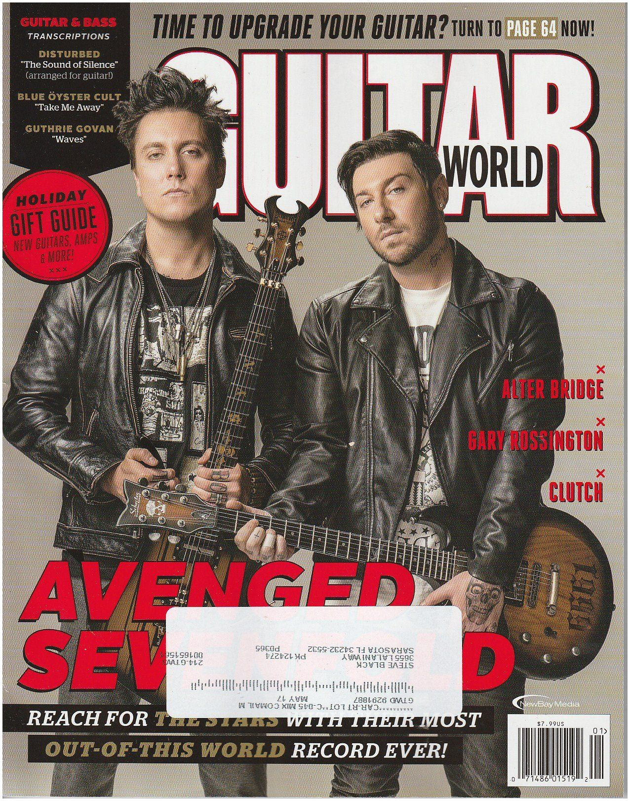 Guitar Magazines Subscriptions Guitar World January 2017 Amazon Books