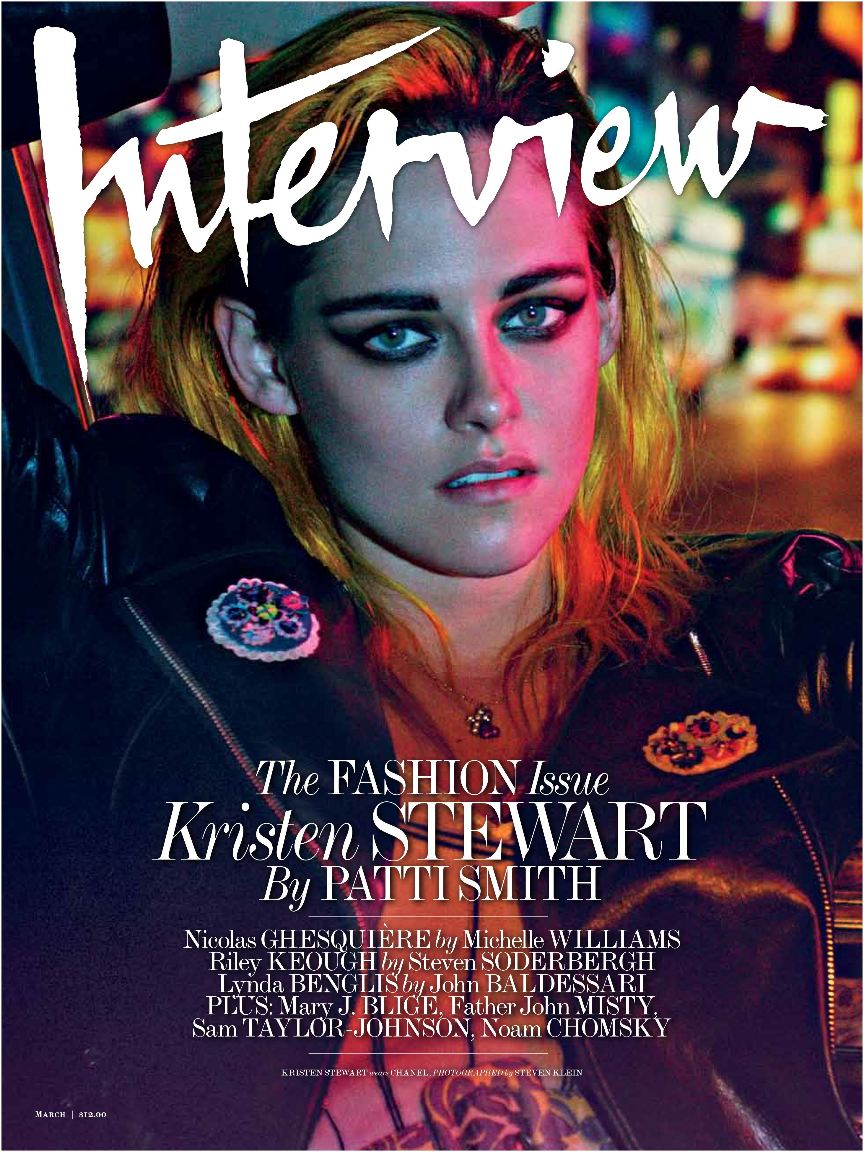 Interview Magazine Layout Patti Smith Interviewed Kristen Stewart for Interview Magazine