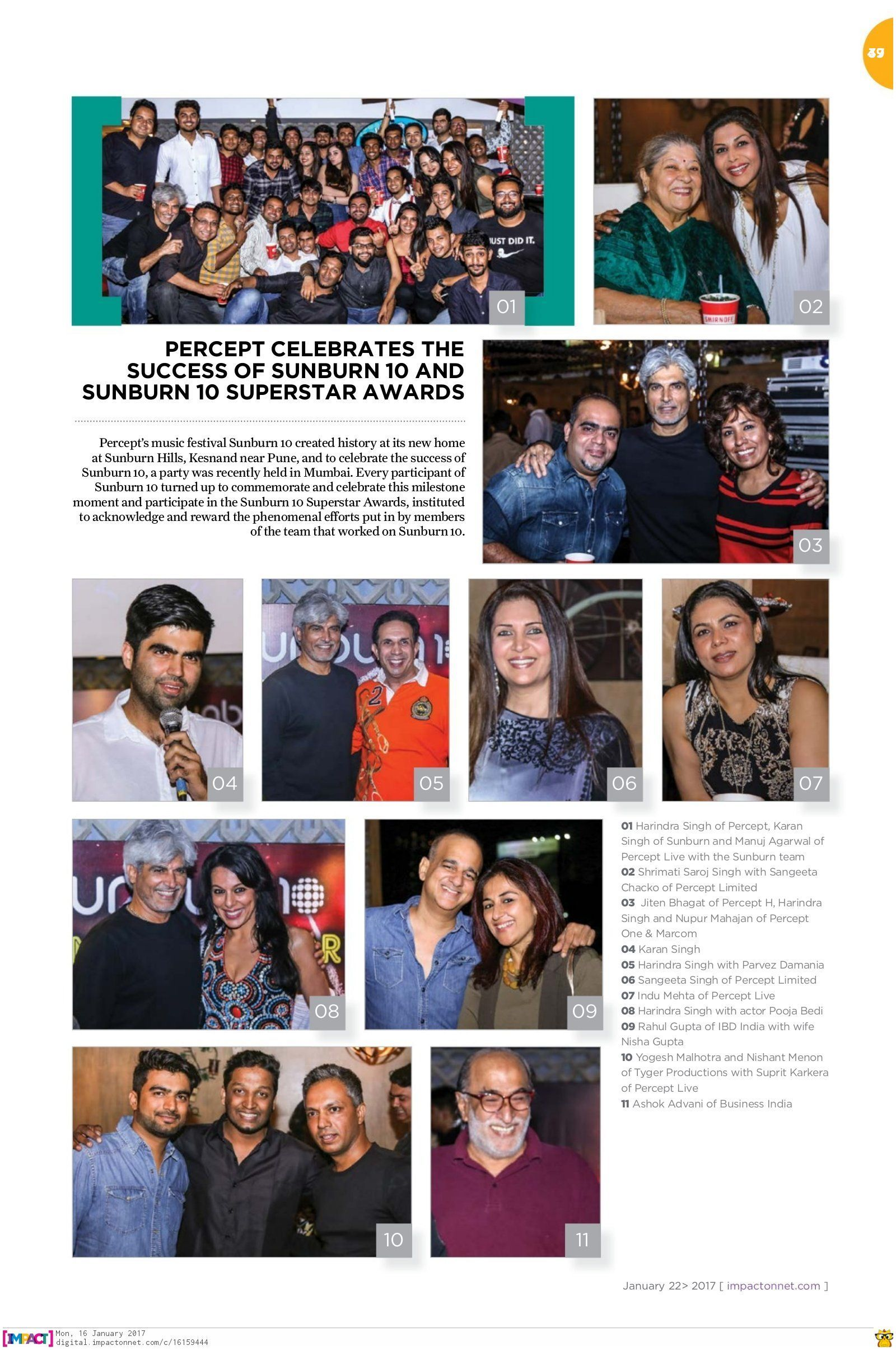 Percept EMC celebrates the success of SUNBURN Festival and Sunburn10 Superstar Awards 🎉😍✌ Coverage Courtesy IMPACT magazine