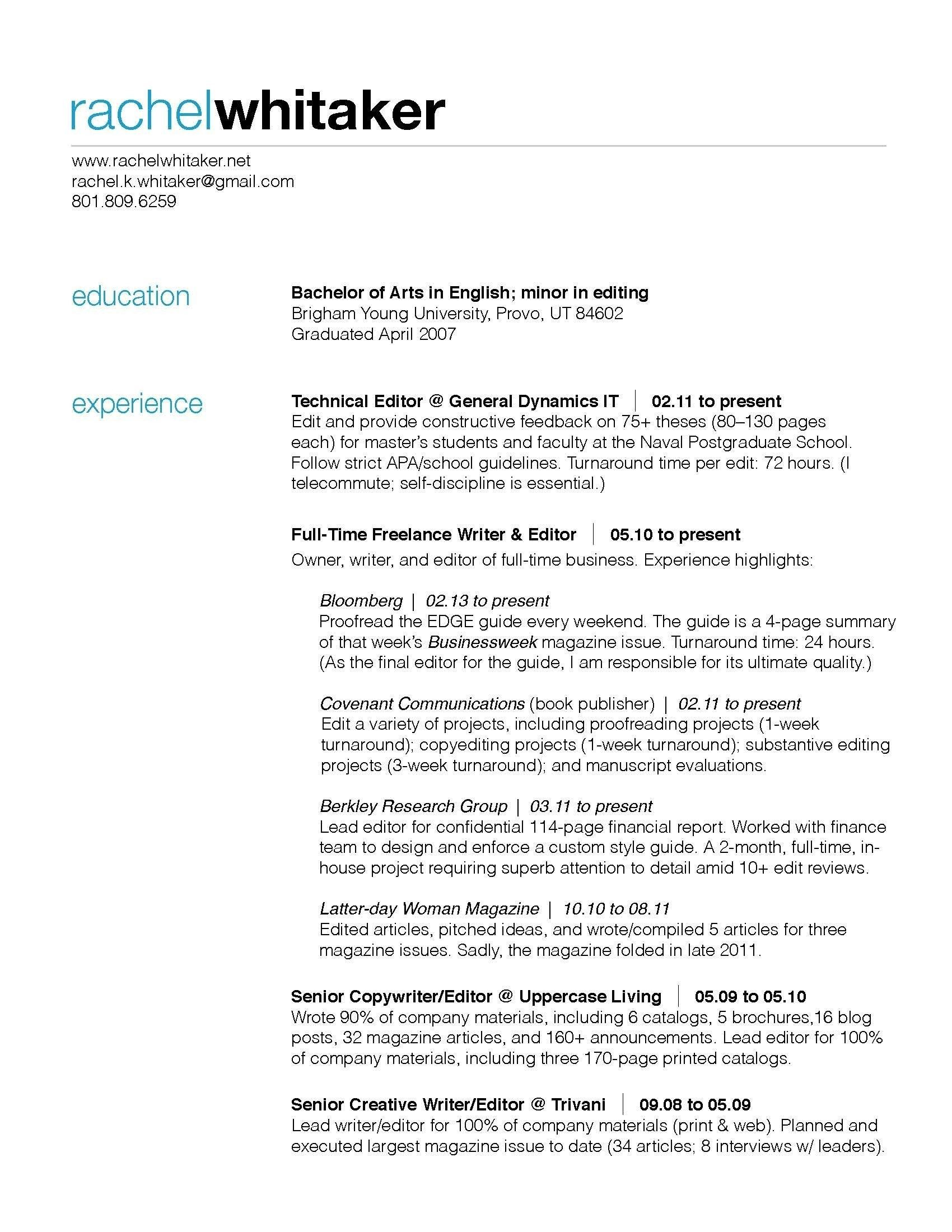 Personal Finance Magazine Resume Editing Best Designer Resume Sample From Resume Examples Pdf