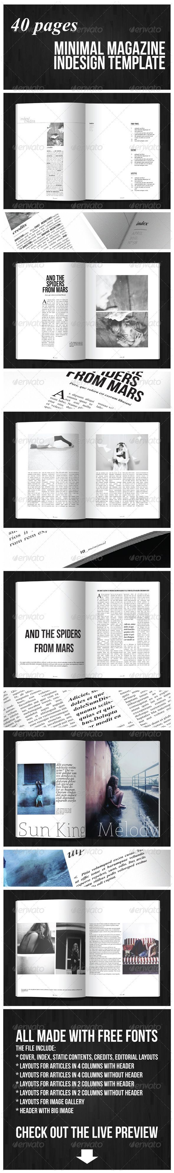 40 Pages Minimal Magazine GraphicRiver Item for Sale