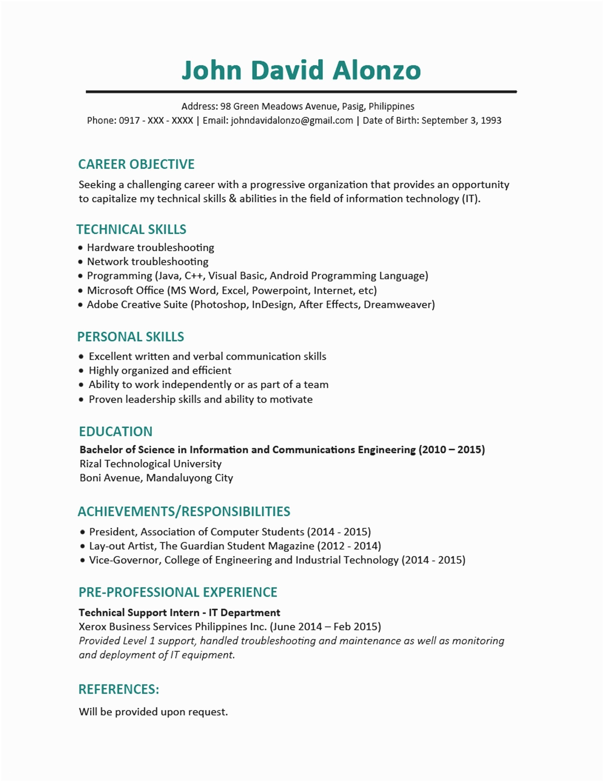 Magazine Subscriptions for College Students Fresh Sample Resume Templates for College Students