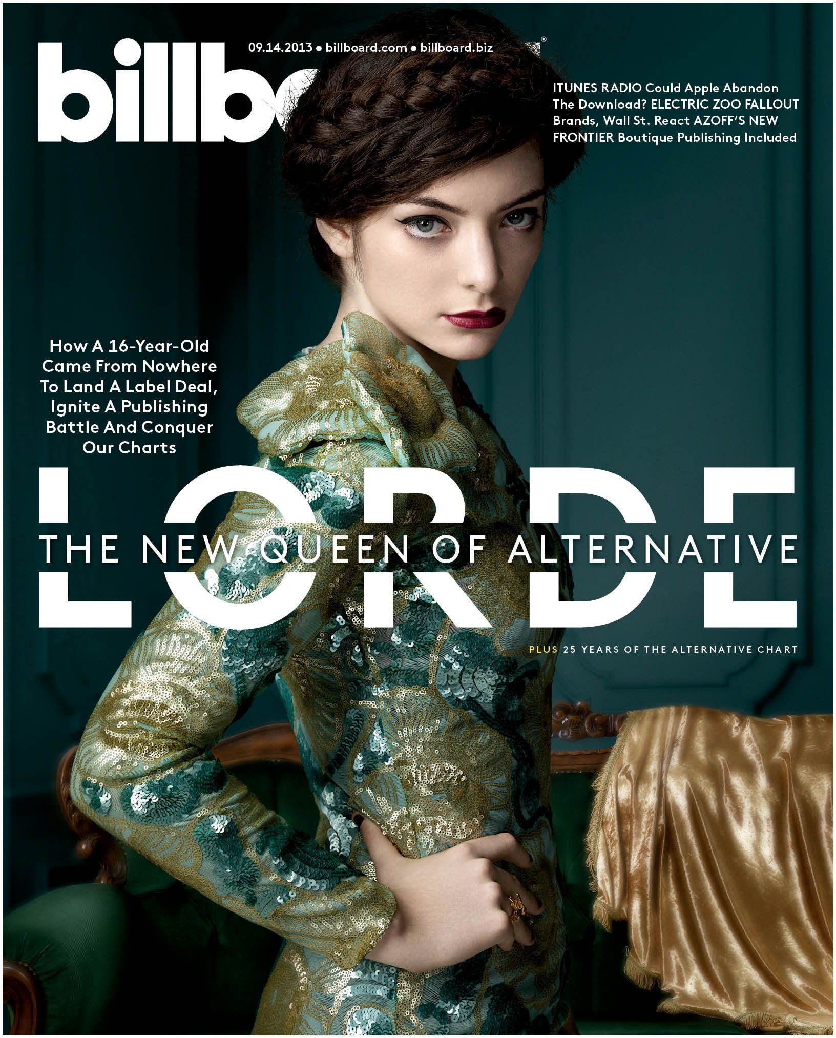 Lorde high resolution Billboard cover