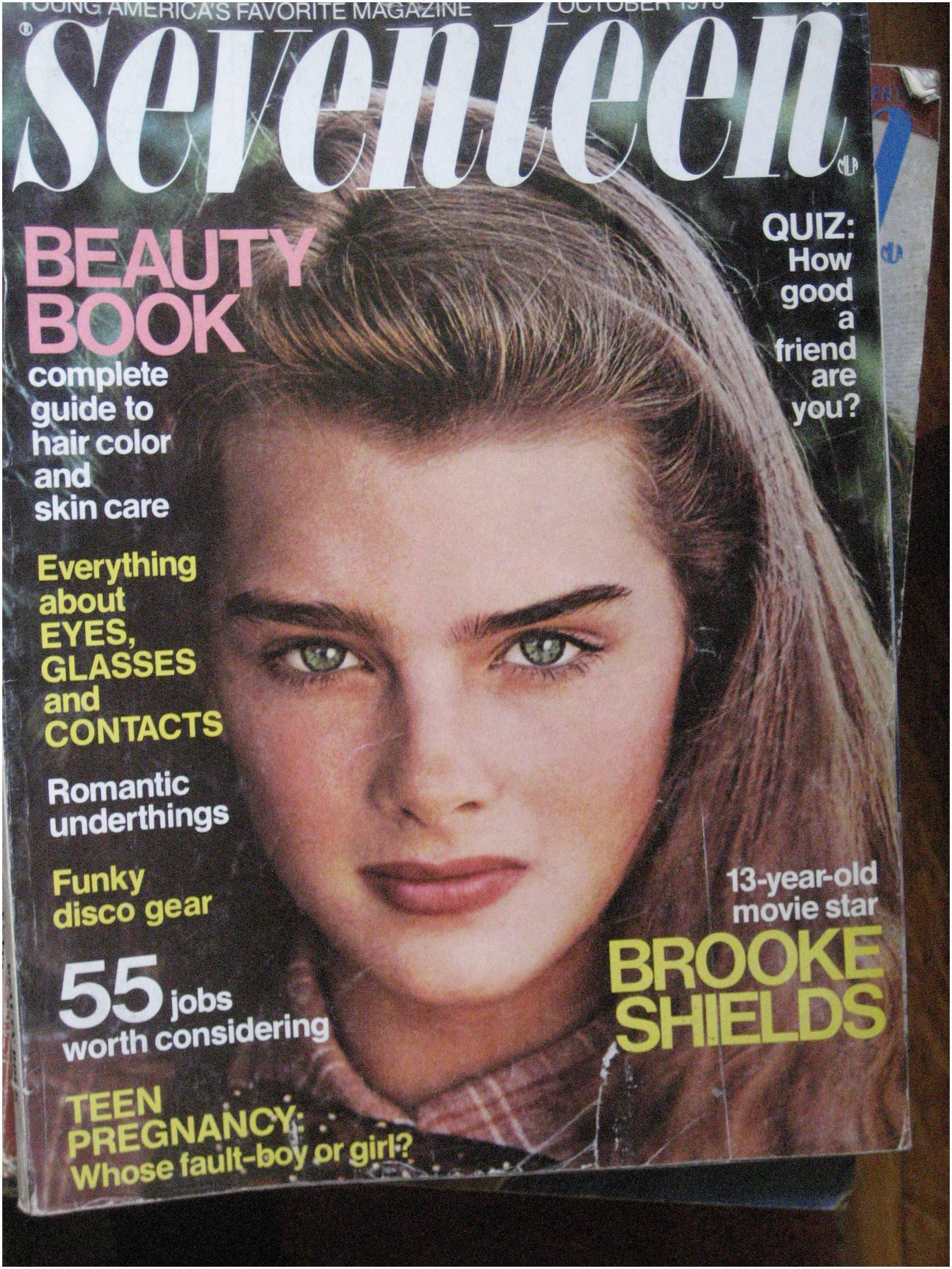 Magazines for 2 Year Old October 1978 issue Of Seventeen Magazine with Brooke Shields On