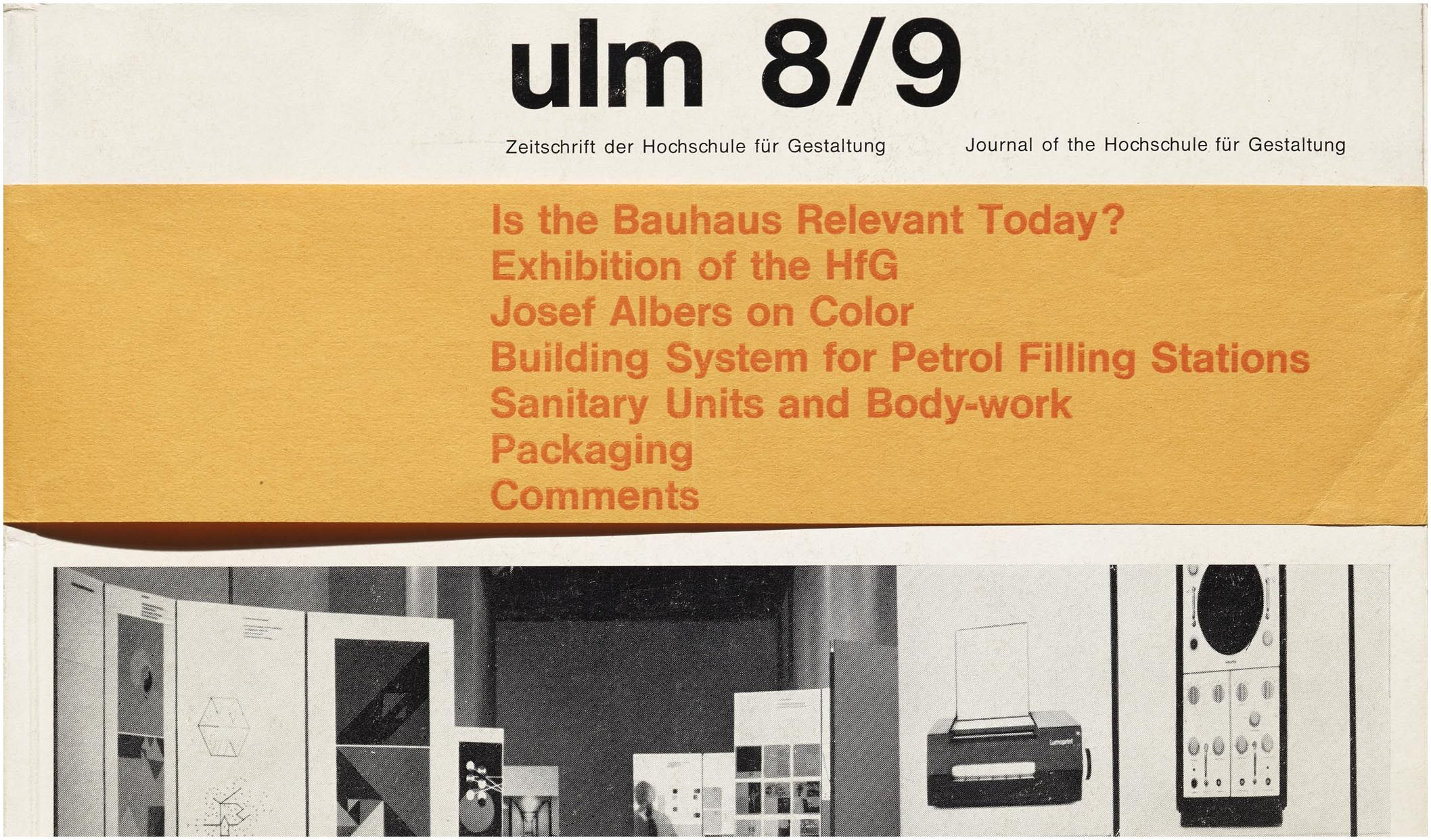 Detail from the cover of ulm 8 9 1963