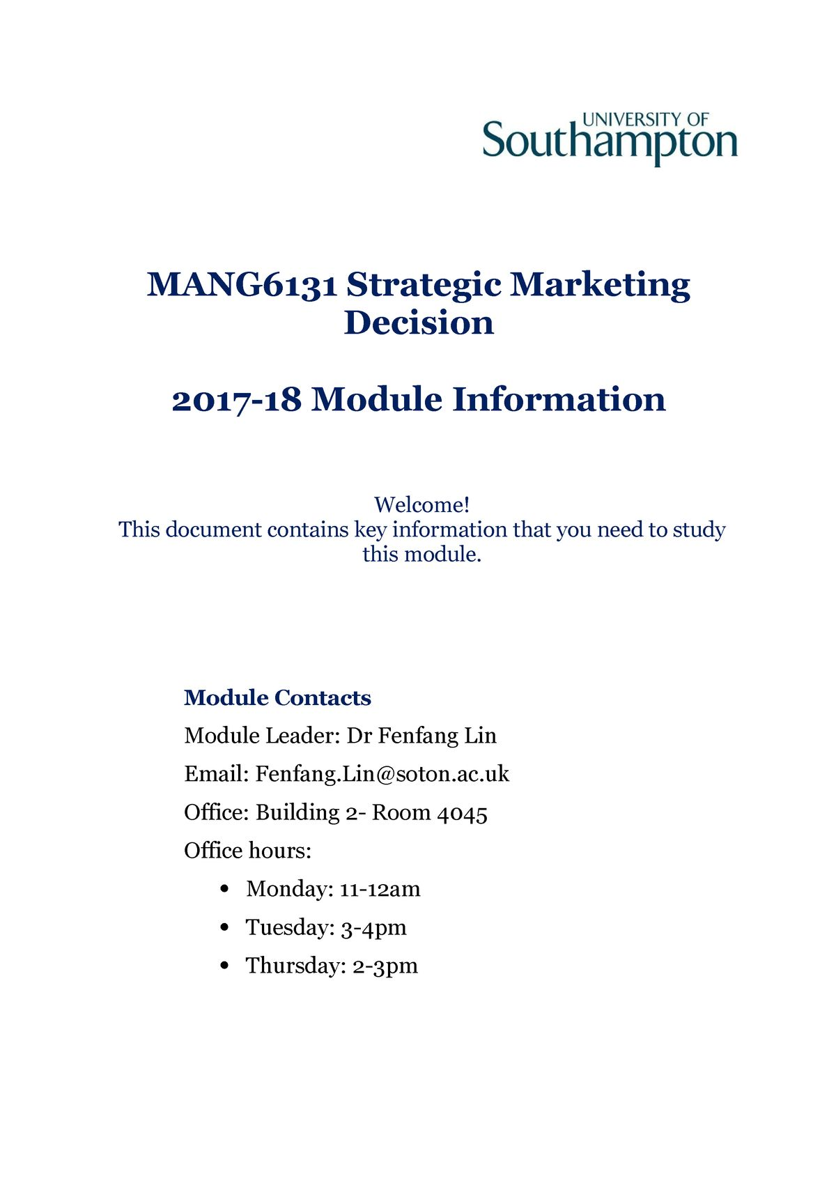 Strategy and Business Magazine Mang6131 Strategic Marketing Decision Module Handbook 2017 18 1