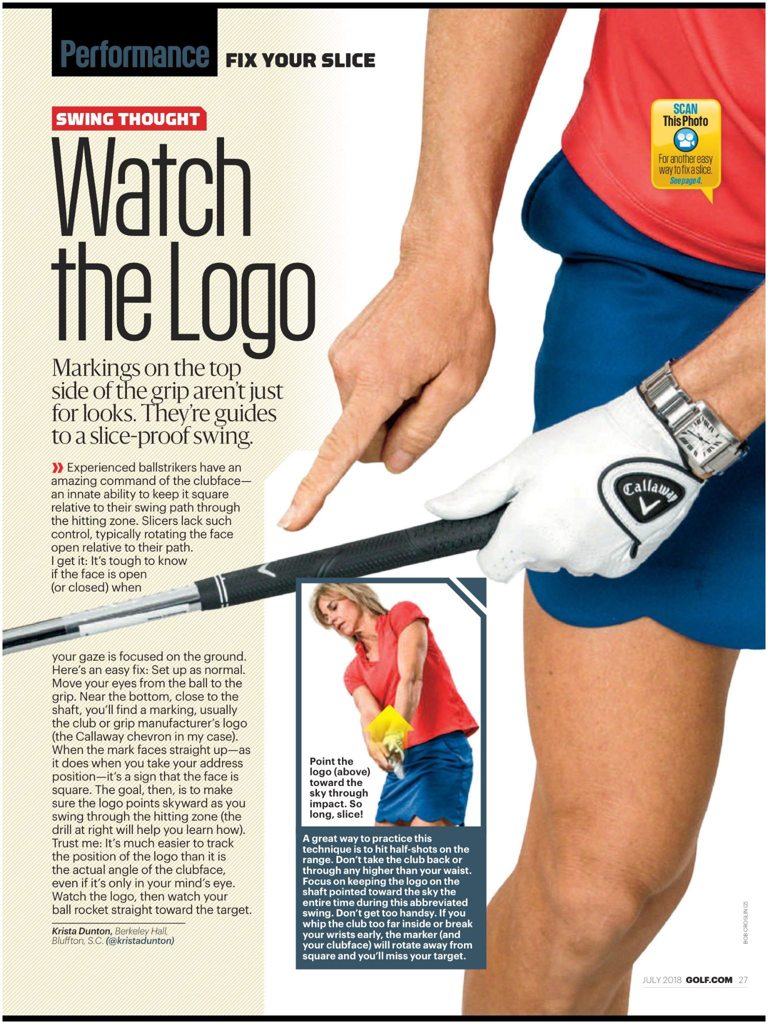 """""""Watch the Logo"""" from Golf Magazine July 2018 Read it on the Texture app unlimited access to 200 top magazines"""
