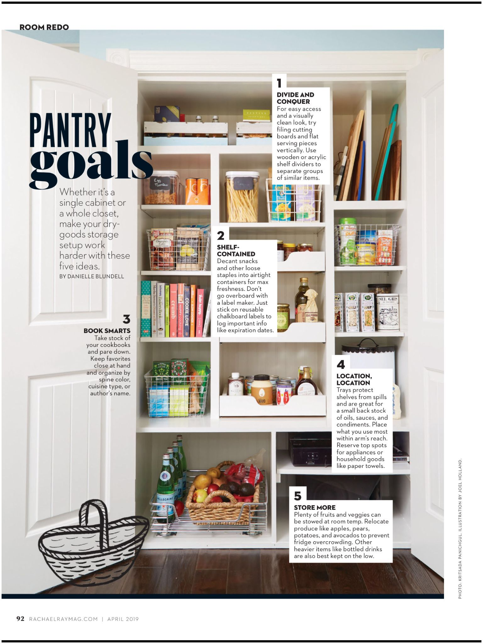 """Walking Magazines Subscriptions Pantry Goals"""" From Rachael Ray Every Day April 2019 Read It On the"""