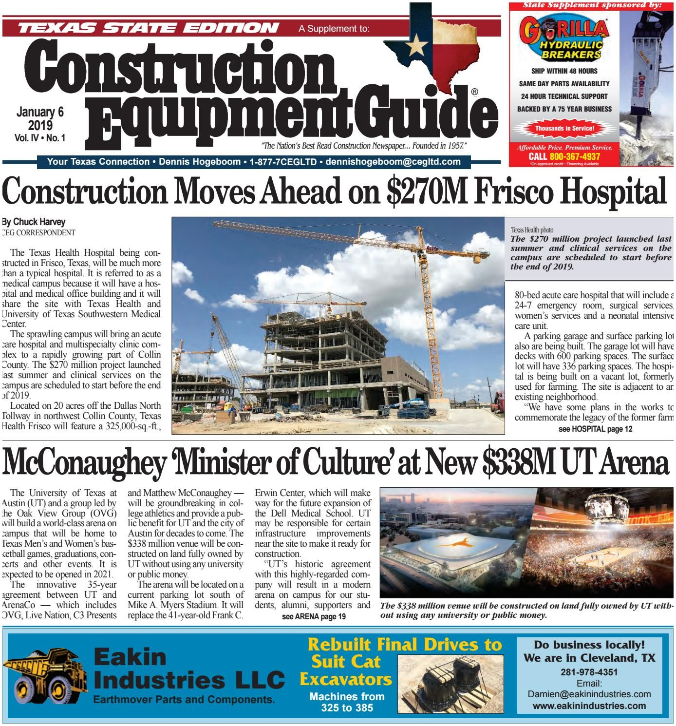 Construction Business Magazine Texas 1 January 6 2019 by Construction Equipment Guide issuu