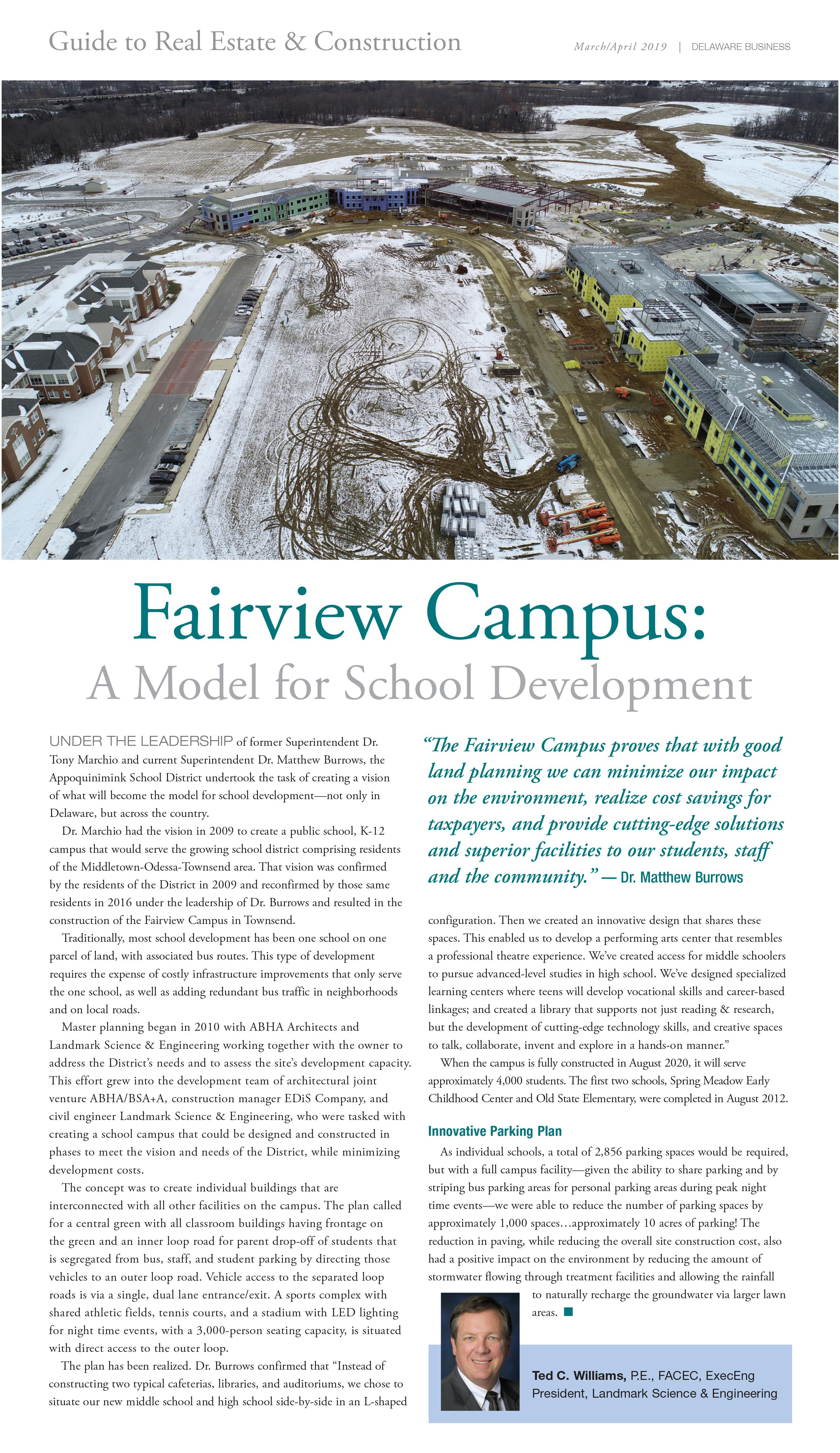 Delaware Business Magazine Edis Featured In Delaware Business Magazine Fairview Campus A