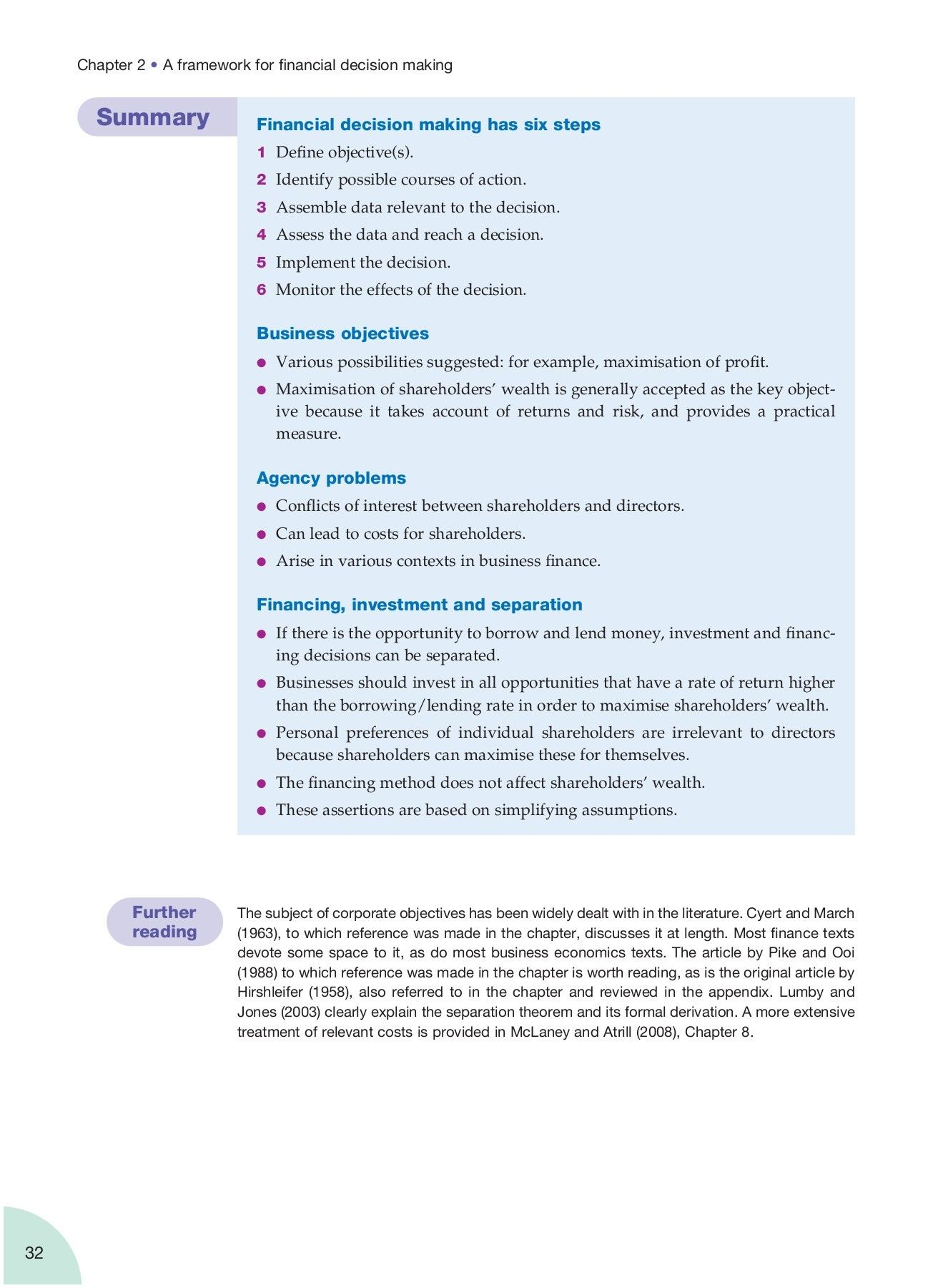 BUSINESS FINANCE THEORY AND PRACTICE Pages 51 100 Text Version