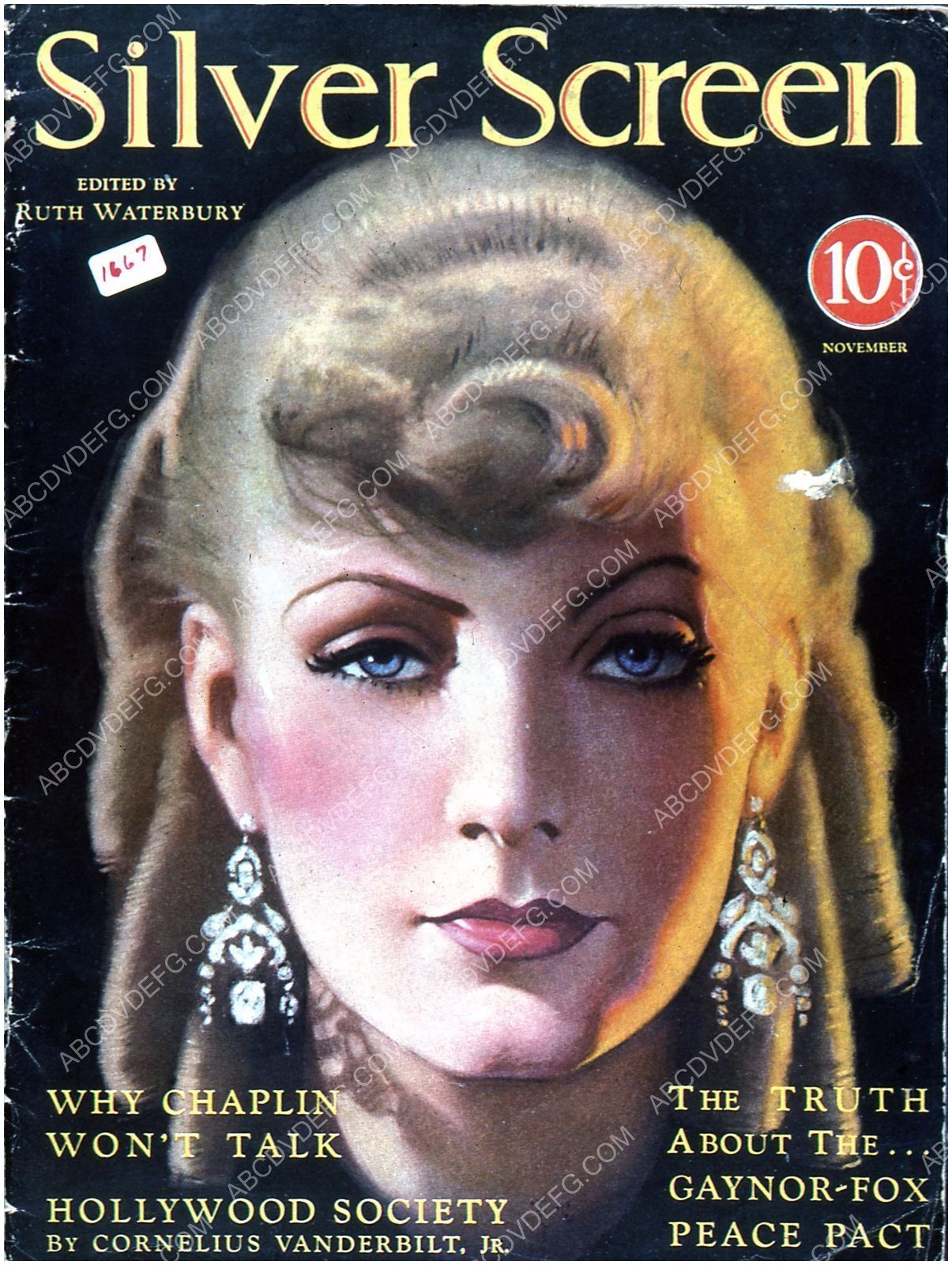 Hollywood Trade Magazines Greta Garbo Silver Screen Magazine Cover 35m 4275