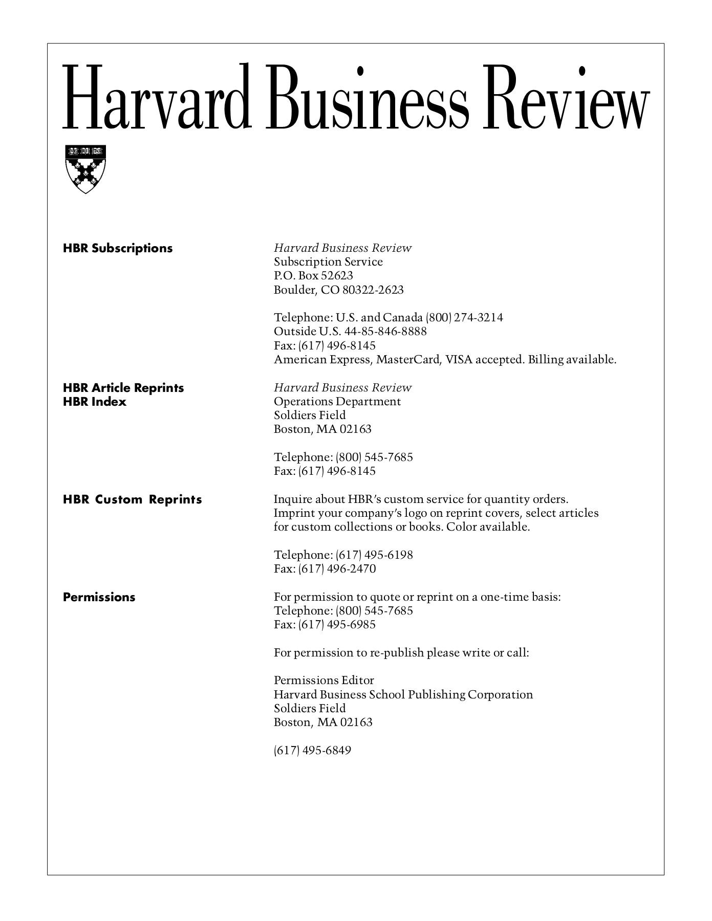 Is Harvard Business Review Worth Subscribing E More Time How Do You Motivate Employees Pages 1 15 Text