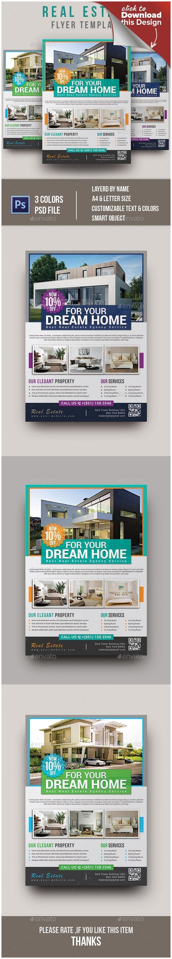 business flyer corporate flyer green home selling leaflet magazine ad marketing flyers poster promotional flyers property purple real estate