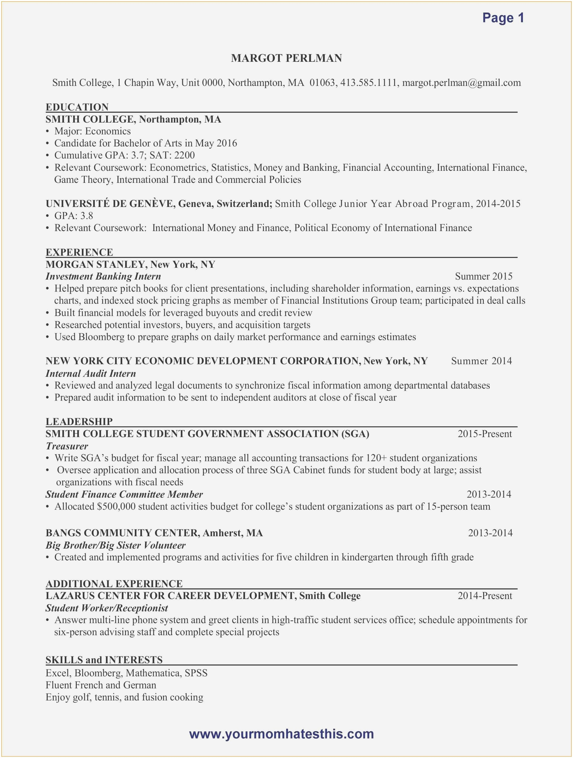 Sat Book 2019 Luxury Resume Examples for Accounting Jobs – 50ger