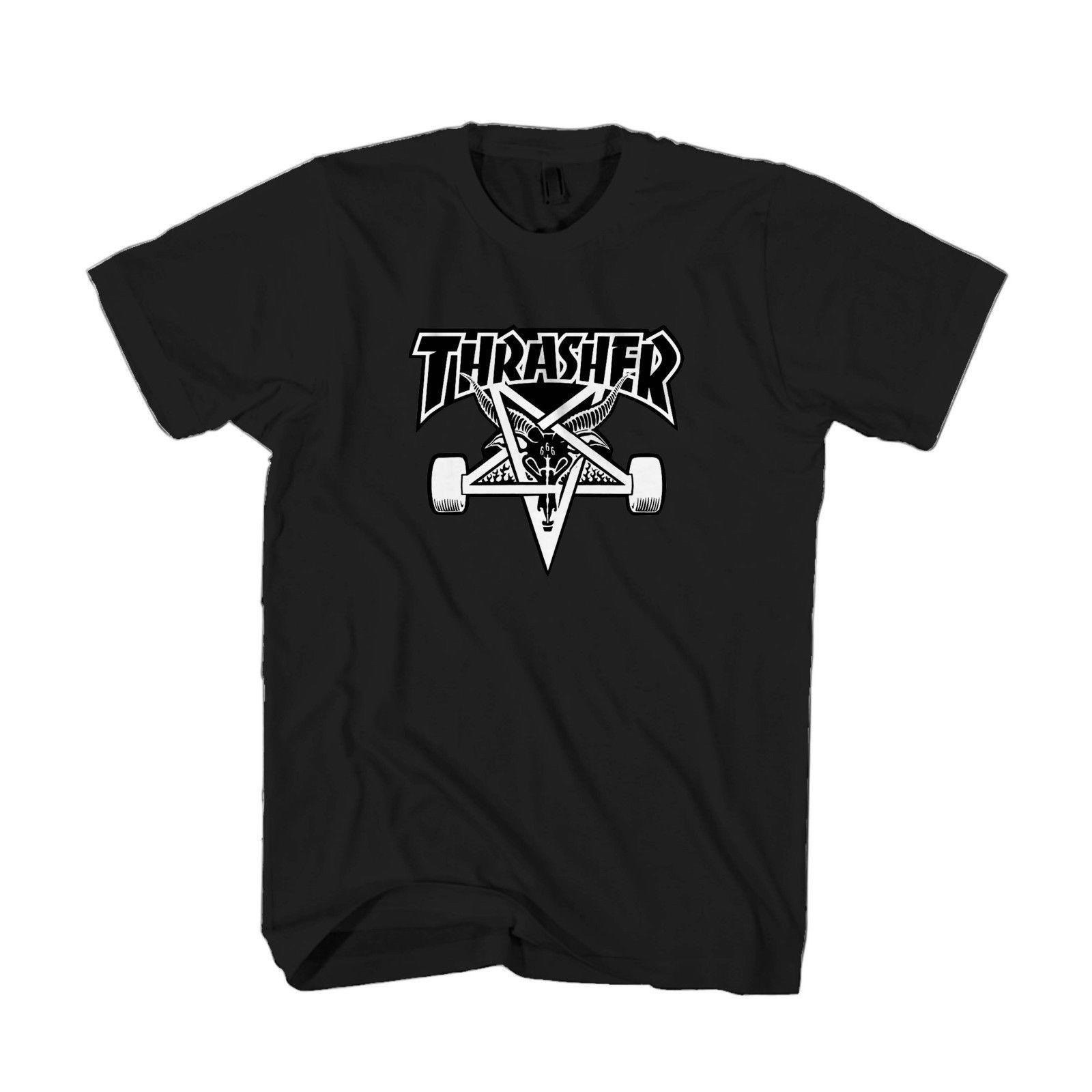 T Shirt Business Magazine Trhasher Logo Skateboarding Magazine Skull Men & Women T Shirt T