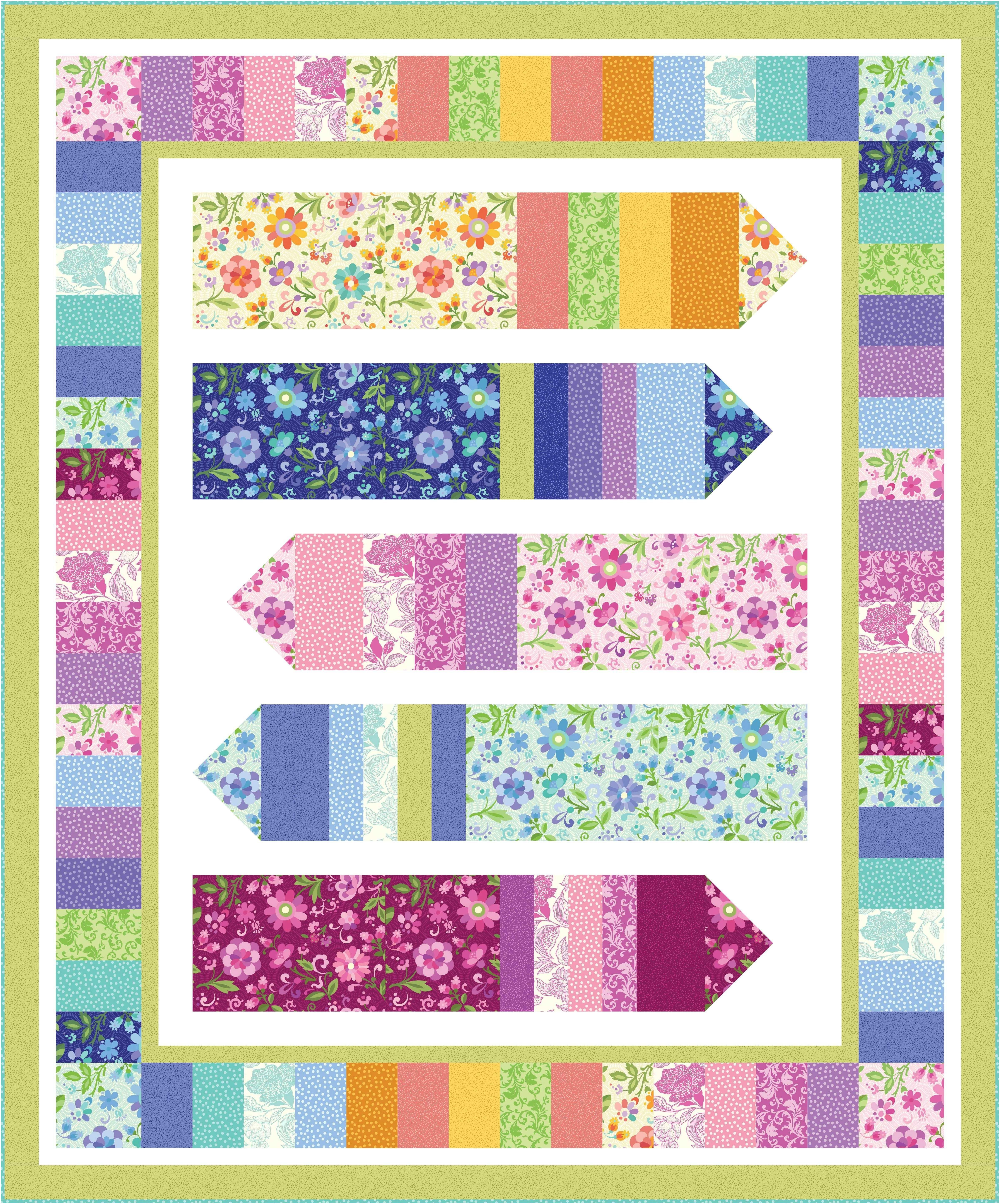 """Easy Quilts Magazine Check Out Our Free """"candy Crayons"""" Quilt Pattern Using the"""